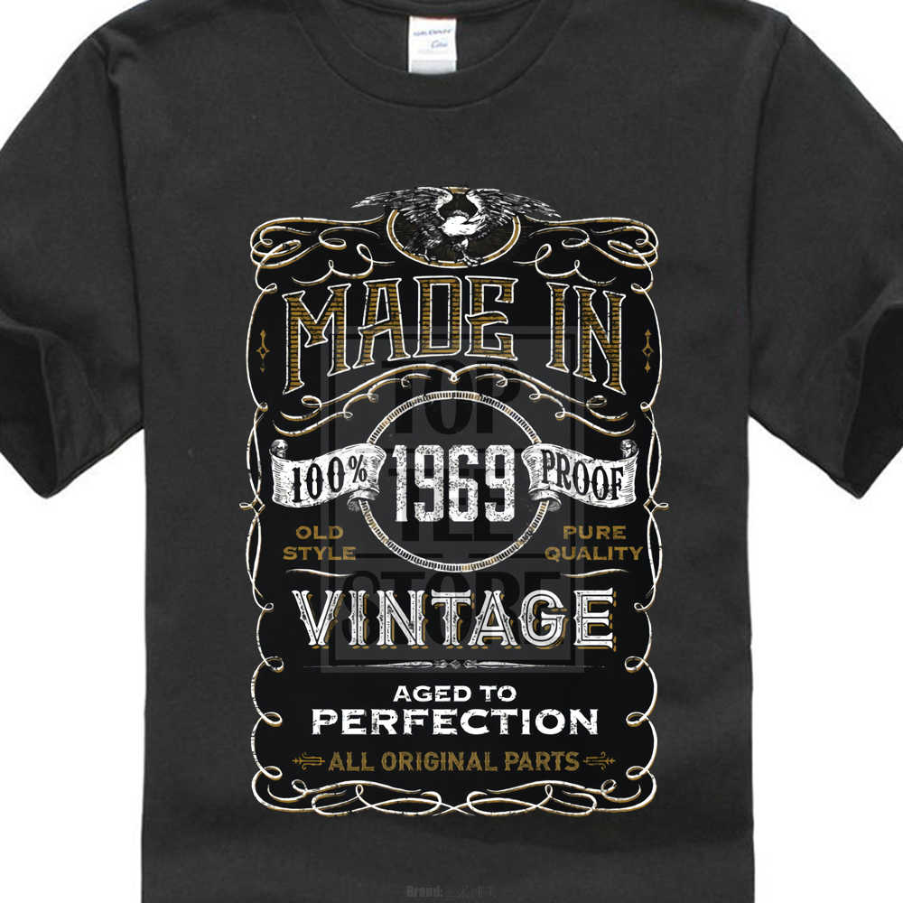 0b8df4d73 100% Cotton Short Sleeve O Neck Tops Tee Made In 1969 T Shirt Born 48Th