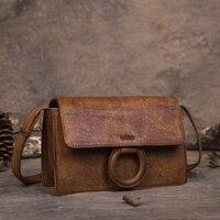 Luxury Original Design Handmade Genuine Leather Handbags Nature Skin Women Vintage Designer Cowhide Female Messenger Bags