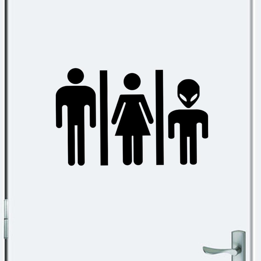 home decor highquality hot foreign diy funny toilet sign door sticker bathroom door 356