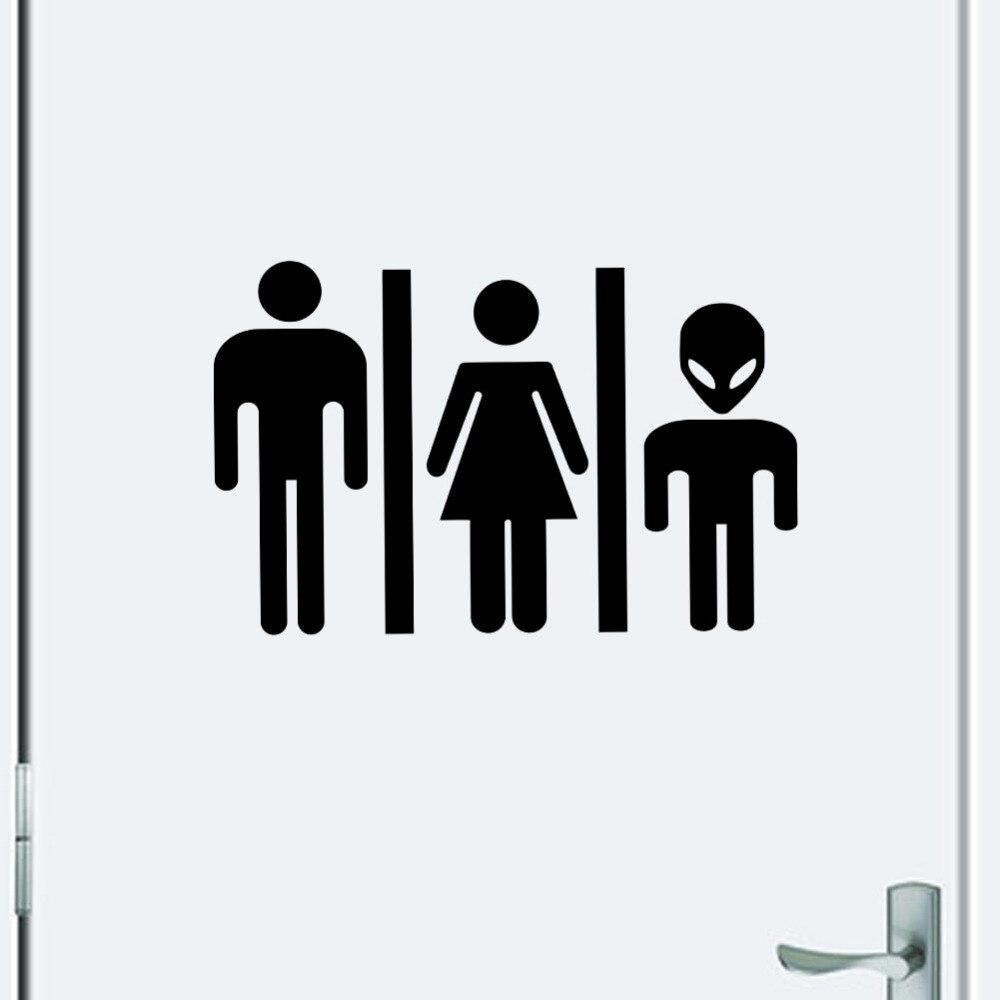 Bathroom sign for home - Home Decor High Quality Hot Foreign Diy Funny Toilet Sign Door Sticker Bathroom Door 356
