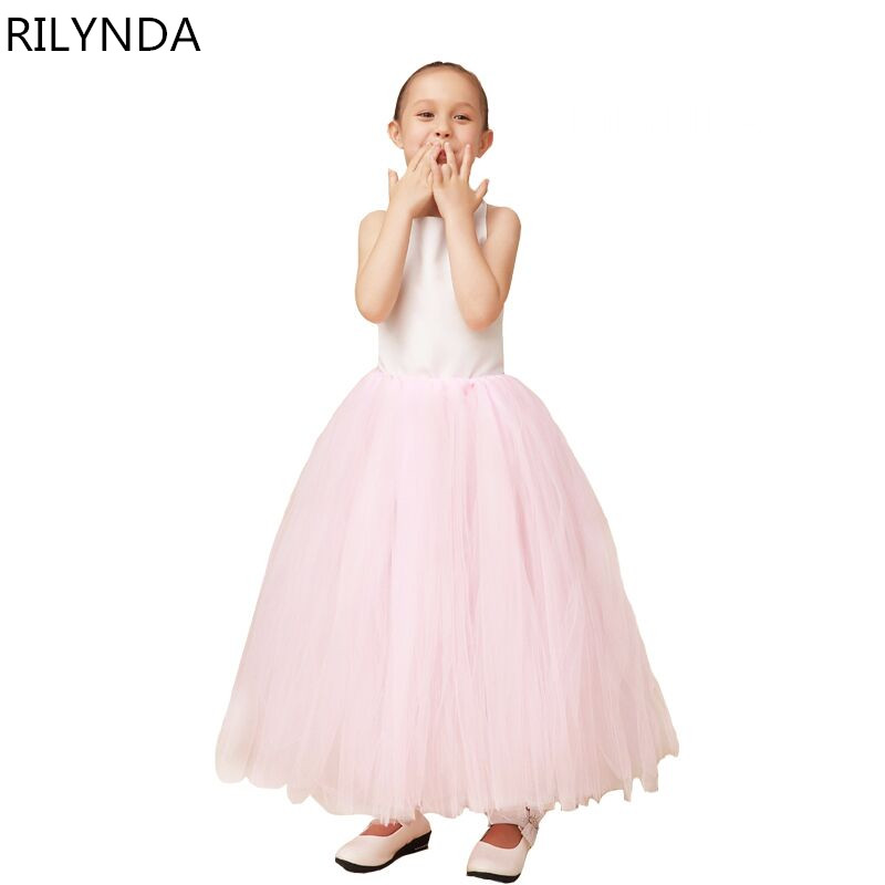 ФОТО Pink First Communion Dresses For Girls 2016 Brand Tulle Lace Infant Toddler Pageant Flower Girl Dresses for Weddings and Party
