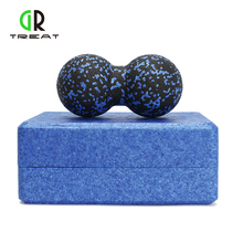 2PCS Yoga Block og Peanut Ball Set EPP Yoga Blocks Massage Peanut Ball til Pilates Fitness Gym Øvelser Physio Massage