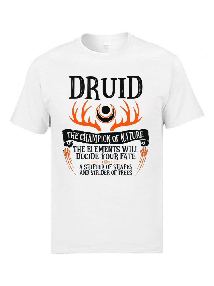 Family T Shirt Brand New Round Neck Printed On Short Sleeve Pure Cotton Mens Tshirts Wrath Of Nature Druid T-Shirts