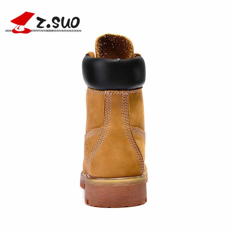 dee58f0bae2b ... Z. SUO мужские ботинки из натуральной кожи, ботильоны, новые английские  Ботинки martin ...
