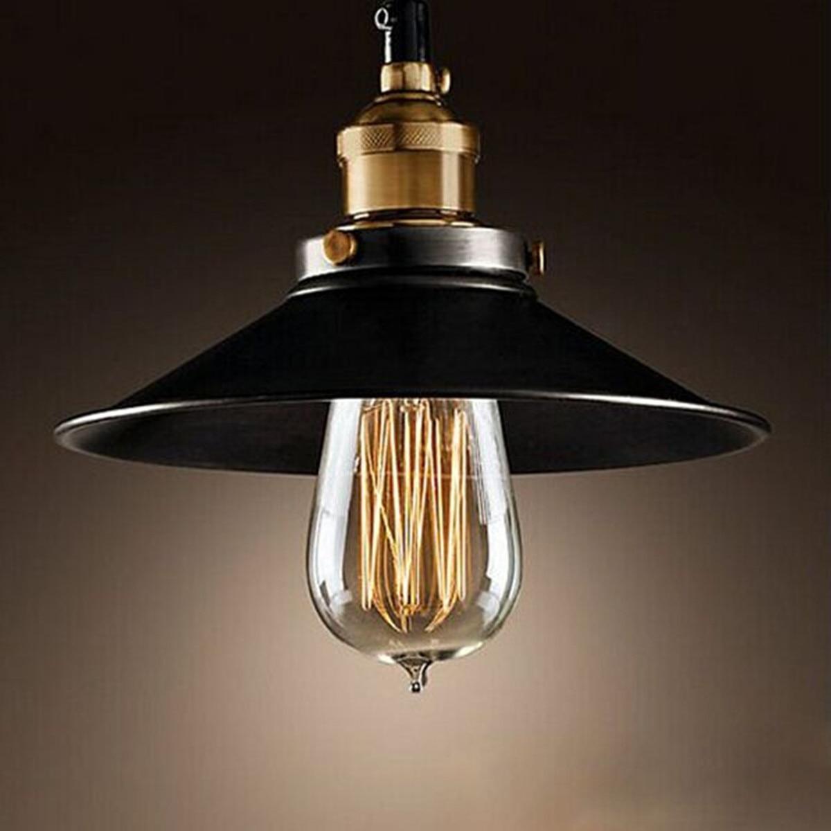 Smuxi Pendant Lights Vintage Industrial Retro Pendant Lamps Dining Room Lamp Restaurant Bar Counter Attic Lighting E27 Holder