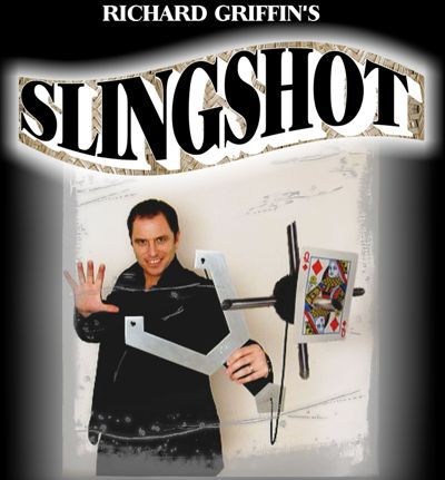 The Slingshot (DVD + Gimmick) - Magic Tricks,Stage,Card,Props Comedy,Illusion,Mentalism got it covered umbrella magic magic trick magic device stage gimmick illusion card magic