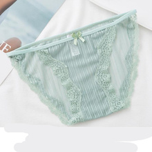 High quality ladies French sexy openwork briefs Underwear Seamless Mesh lace women panties Comfortable transparent