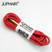 1-12 Pairs Red Women High Quality Unise Laces Waxed Round Shoelaces Sneaker Solid Polyester Twisted Shoes Metal Head Shoelaces недорого