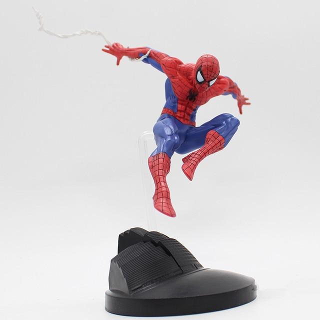 Série Super Hero Spiderman Homem Aranha Brinquedos PVC Action Figure Collectible Modelo Toy N028 15 centímetros Crianças Como Presentes de Natal