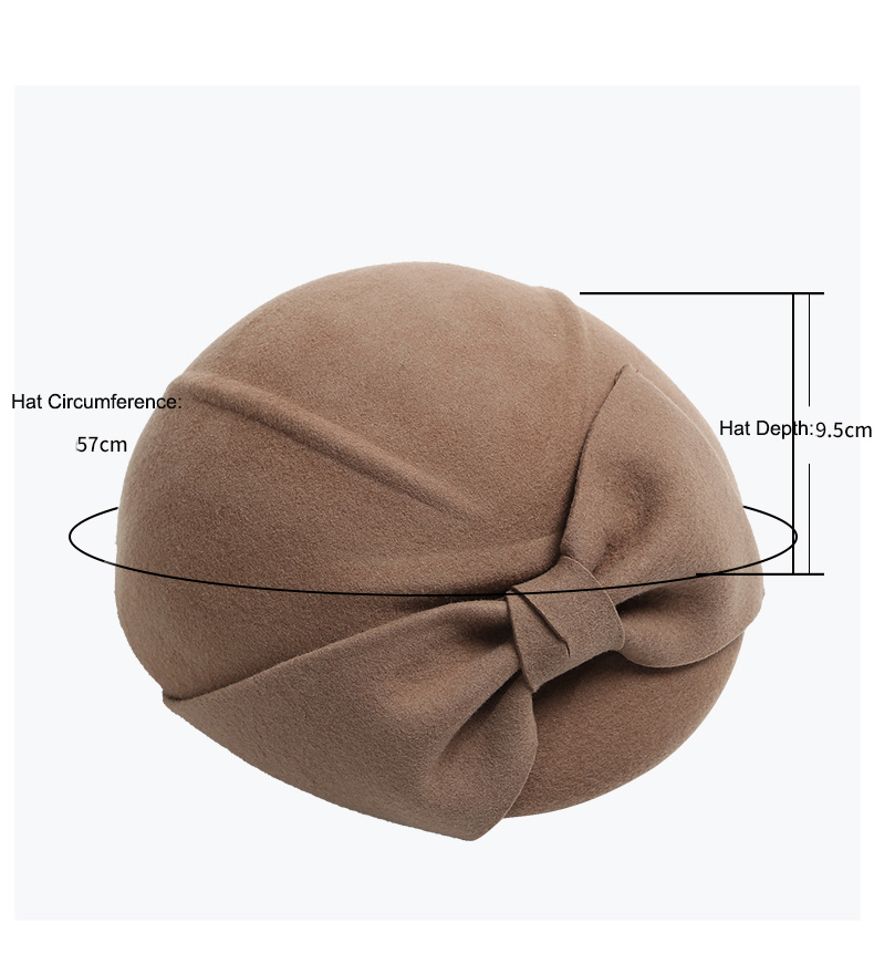Acquista Vendo Autunno Inverno Donna Cappelli Di Lana Bowknot Feltro ... c276960d49cf