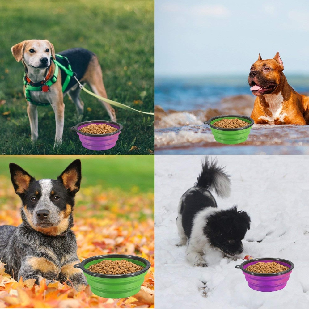 Water Food Silicone Portable Travel Bowl  My Pet World Store