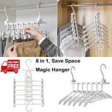 2019 New Plastic Hanger Wardrobe Closet Bar Clothes Coat Organizer Space Saver Hangers все цены