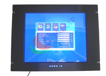 Front Waterproof 15 inch Marine LCD Monitor with HDMI BNC Input