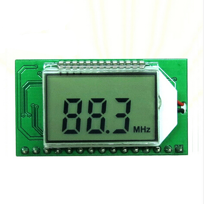 FM Radio Module Serial Port Frequency Modulation Wireless Audio Receiver Board 3-5V 40mA UART Stereo 500mW 87.0MHz-108.0MHz