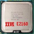 Бесплатная доставка для Intel Pentium Dual Core E2160 двухъядерный e2160 1.8 Г настольных ПК CPU 775-контактный