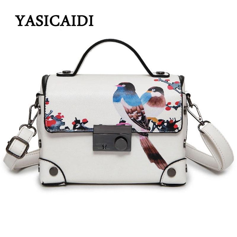 3D Handbags Flowers New Design Bird Plum Blossom Casual Tote Bag Famous Brand  Fashion Ladies Pu Leather Shoulder Bag blossom flowers