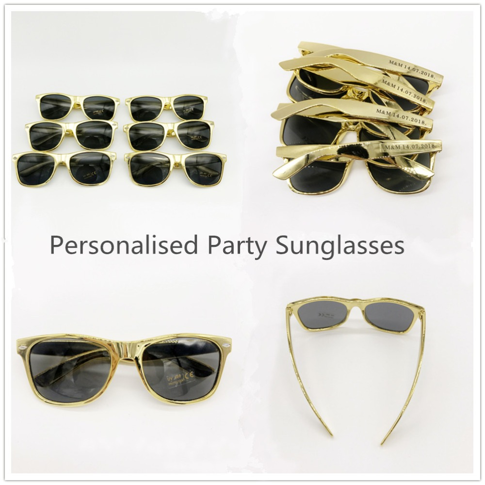24 Pairs Custom Made 50th Birthday Party Golden Color Sunglasses ...