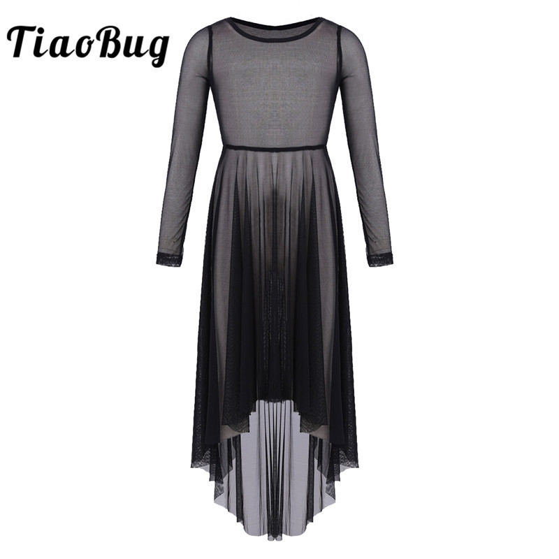 tiaobug-girl-mesh-high-low-hem-dress-for-celebration-of-spirit-praise-lyrical-font-b-ballet-b-font-contemporary-dance-costumes-kids-dance-wear