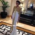 Robe De Soirée Nova Primavera Lantejoulas Formal Vestido de Noite Kaftan vestido 2016 Abaya Em Dubai Marroquino Caftan Com Trem Branco Kaftan