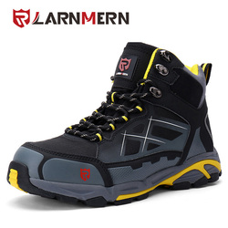 LARNMERN Mens SRC Non-slip Spring Ankle Boots Steel Toe Work Safety Shoes Outdoor Fashion Sneakers Lightweight Puncture Proof
