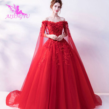 AIJINGYU 2018 beautiful free shipping new hot selling cheap ball gown lace up back formal bride dresses wedding dress TJ329