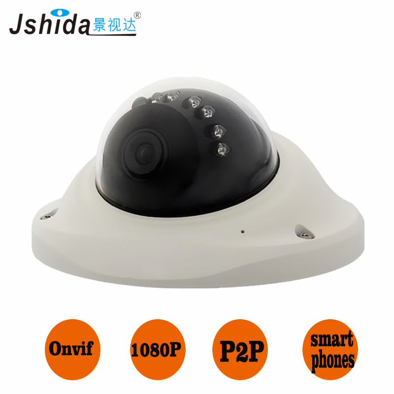 2.0PM full HD IP camera ufo dome camera Indoor Security Hi3516C IR night vision CCTV camera 1080P onvif network cmos 4 in 1 ir high speed dome camera ahd tvi cvi cvbs 1080p output ir night vision 150m ptz dome camera with wiper