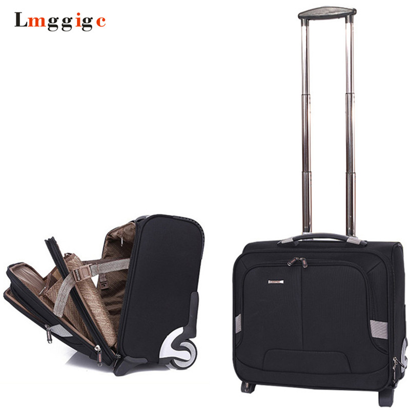 Rolling Luggage Cabin Bag,Travel Suitcase With Wheel,Oxford Cloth Trolley Case,Men Carry On,High Quality Box With Laptop Bag