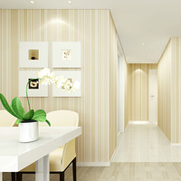 Non Woven Minimalist Wallpaper Modern Vertical Stripe Vinyl Wallpaper Rolls Wallcoverings For Living Room And Bedroom