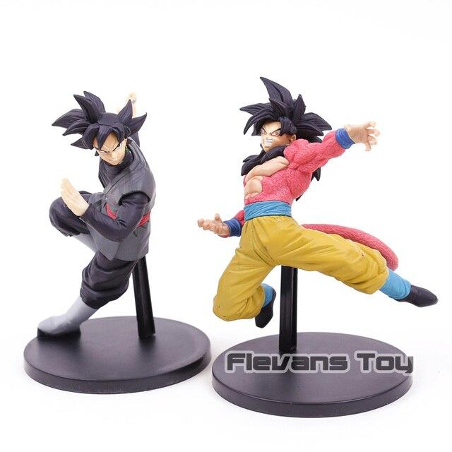 Super Dragon Ball Son Goku Banpresto FES!! Son Goku Super Saiyan 4/Goku Figura Toy Modelo Brinquedos Figurals Preto