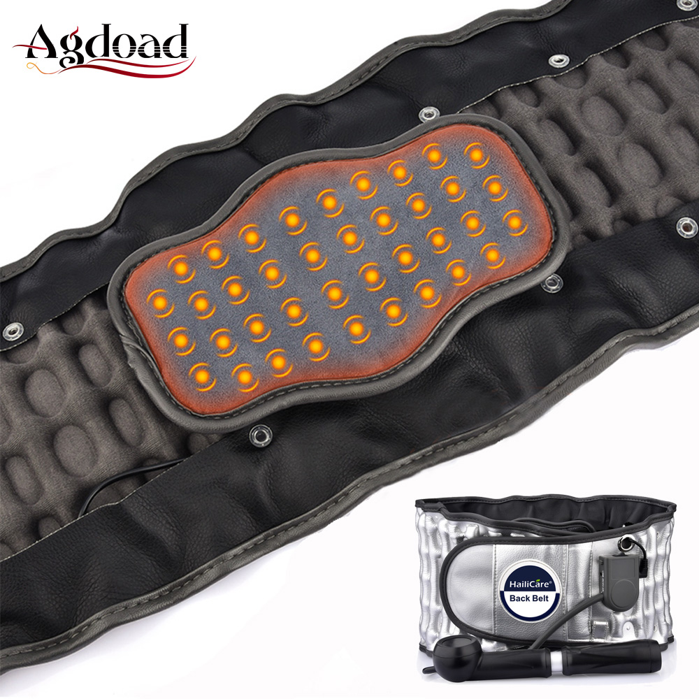 AGDOAD Heat Therapy Lumbar Spinal Decompression Belt Back Brace Lower Back Pain Relief Waist Air Traction