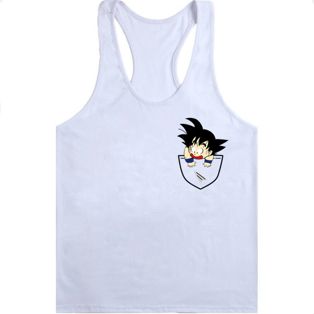 Dragon Ball Tank tops Men Summer Dragon Ball Z super son goku Slim Fit Cosplay 3D Tank vest vegeta tops Homme