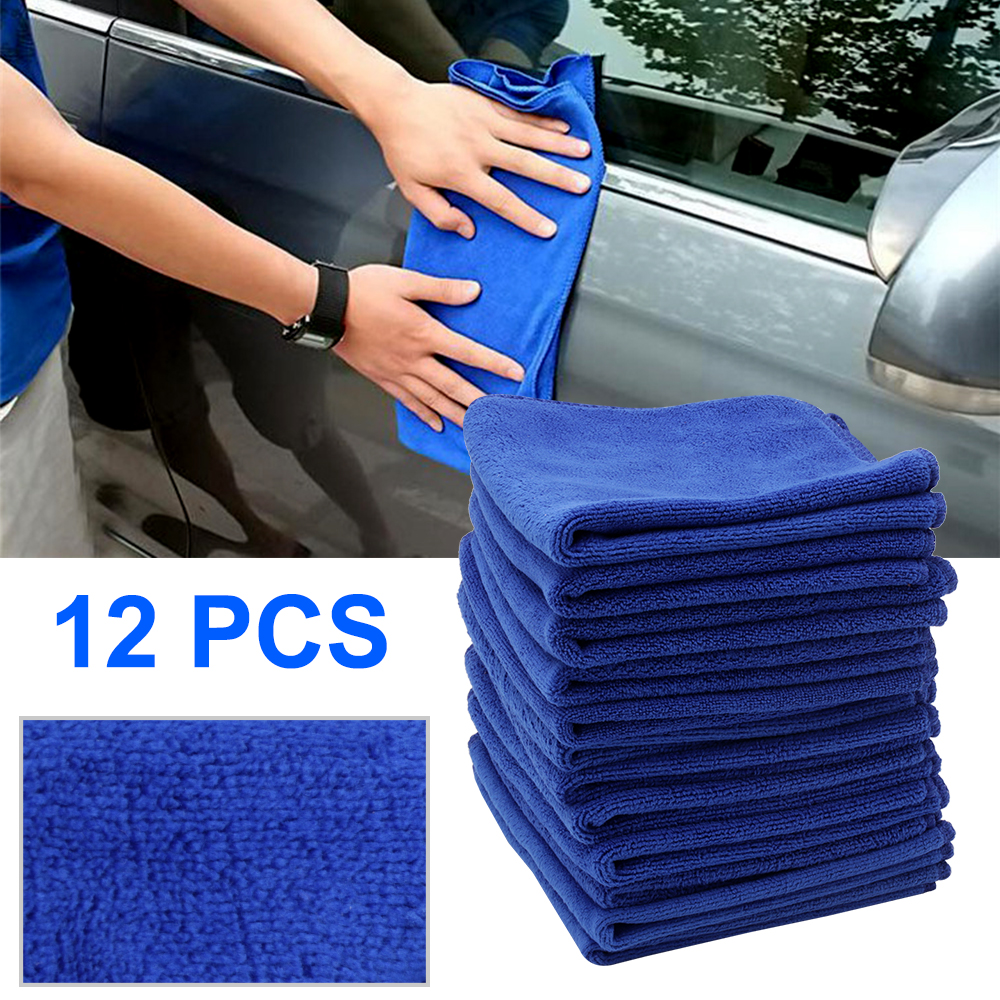Car Wash & Maintenance Sincere Boruit 12pcs Car Wash Towel 30*30cm Soft Microfiber Fiber Absorbent Polish Wash Cloth Absorbent Dry Cleaning Buffing Fleece Kit Diversified Latest Designs Automobiles & Motorcycles