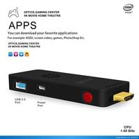 2016 Newest Z83S TV Stick Intel Atom X5 Z8350 Windows 10 And Linux OS Smart Mini