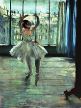 figurative posters canvas painting Edgar Degas Dancer in Front of a Window (Dancer at the Photographers Studio) circa 1874-77
