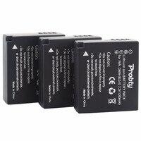 3Pcs Probty DMW BLG10 DMW BLG10 Battery For Panasonic Lumix DC ZS70 DMC GX80 DMC GX85