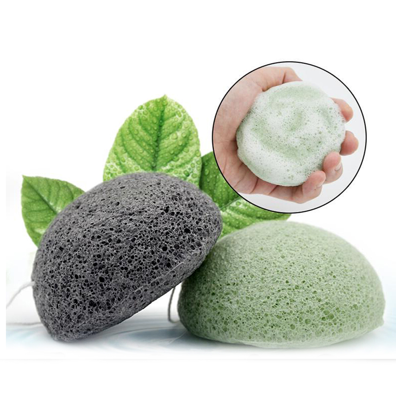 Facial Puff Face Cleanse Washing Sponge Konjac Konnyaku Exfoliator Cleansing Sponge Facial Care Makeup Tools цена
