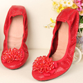 Hot New Fashion Women Shoes Elegant Genuine Leather Flats OL Flower Design Snakeskin Leather Shoes Famous Brand Girl Shoes F007