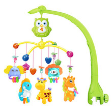 Baby Rattle Toys Musical Mobility On The Bed Bell 0-12 Months Plastic Rattles Animal Tenture Newborn Elephant Baby Toys 70C0478