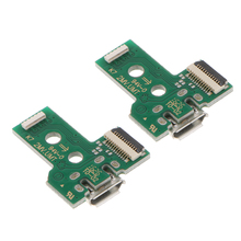 цена на 2Pcs 12Pin Connector USB Charging Port Socket Board For SONY PS4 Wireless Dualshock 4 Controller (JDS-030)wireless controller