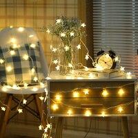 10M 50Led Lights Christmas Led String Tree Snow Star Fairy Light Xmas Wedding Party Garland Christmas