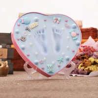 2018 blau Und Rosa Box Baby Souvenirs Hand & Footprint Makers Newborn Weiche Modellierung Ton Tintenlosen Druck Sets Für Kleinkinder