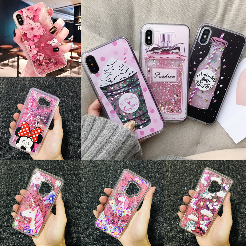 Liquid Water Soft Silicone Case for Samsung S10 5G S10e S8 S9 Plus S7 Edge A10 A20 A30 A40 A50 A60 A70 M10 M20 M30 M40 Note 8 <font><b>9</b></font> image