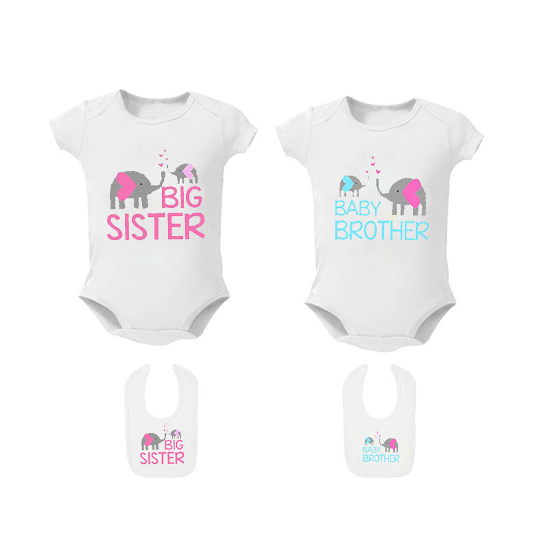 Big Sister to A Little Mister Infant Baby Clothes Bodysuit Sleeveless Summer Funny Gift for Baby