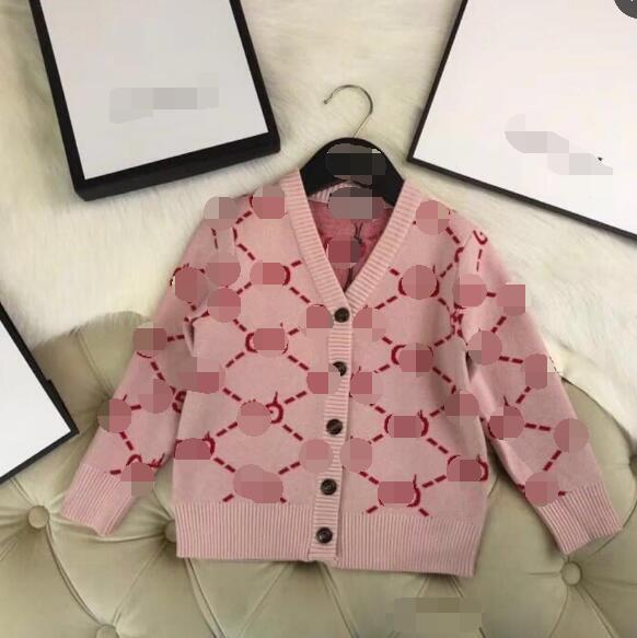 Retail 2018 nueva llegada del otoño niñas ropa moda tejer ocio niñas abrigo 100-140 cm A8