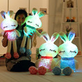 Colorful LED love rabbit doll pillow, plush toys dolls, birthday gift ideas for children