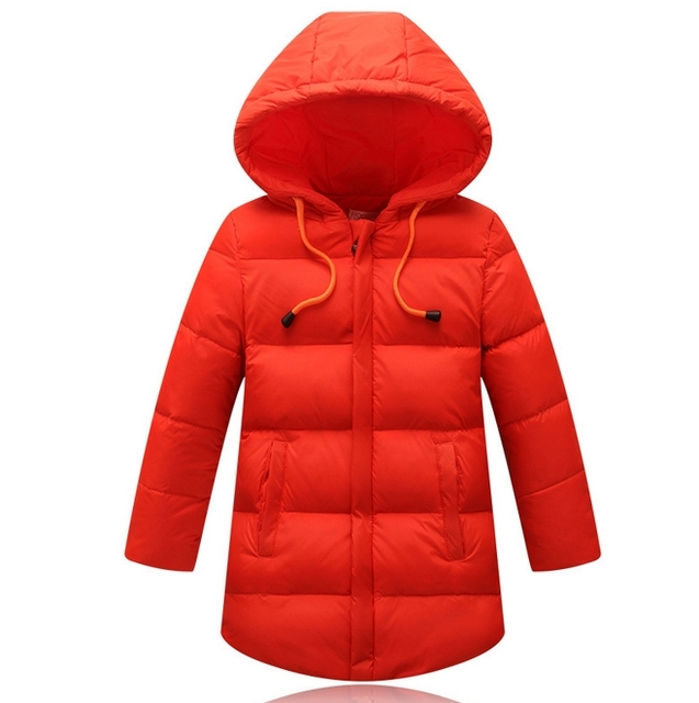 2016 Brand New Baby Girl Jacket Winter Warm With Thick Cotton-Padded Long Jacket Children Casual Hooded Kids Coats Girls Clothes