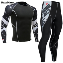 Mens Compression Shirts 3D Teen Wolf Jerseys Long Sleeve T-Shirt Fitness Lycra MMA Crossfit jogging Tights sports suits for Men недорого