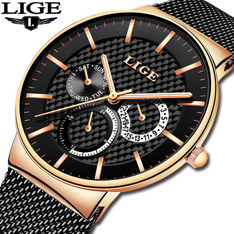 LIGE Womens Watches Top Brand Luxury Waterproof Stainless Steel Chronograph Woman Fashion Casual Sports Quartz Watch Great DealsLIGE Womens Watches Top Brand Luxury Waterproof Stainless Steel Chronograph Woman Fashion Casual Sports Quartz Watch Great Deals