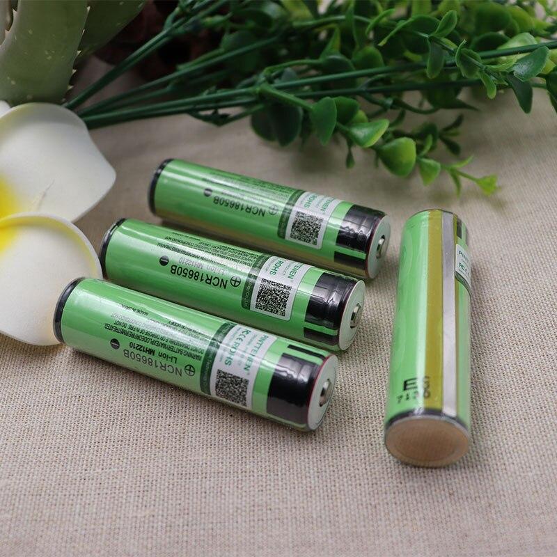 4pcs Original 18650 Battery NCR18650B 3400mAh 3.7V Rechargeable Battery PCB Protected Japan Imports Battery + Free Shopping