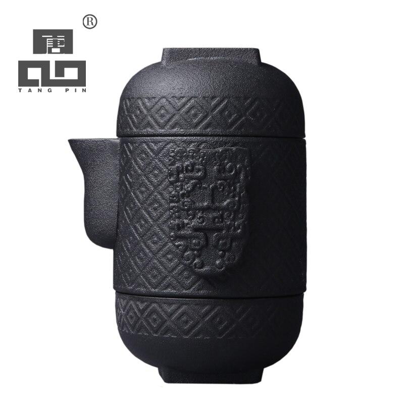 Théière en céramique japonaise TANGPIN bouilloire gaiwan thé à thé en porcelaine ensemble de thé de voyage portable